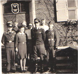 Barth Kommandant and guards at Stalag Luft I in World WarII