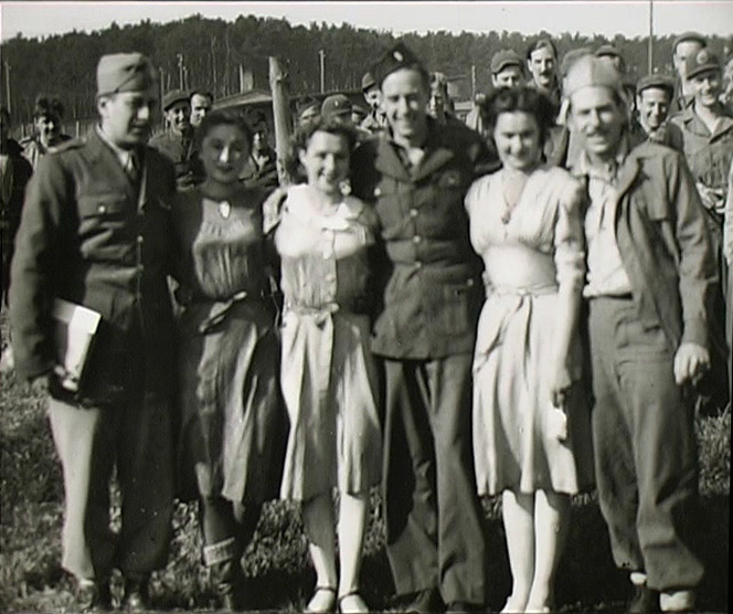 Russian girls with POWs at Stalag Luft I