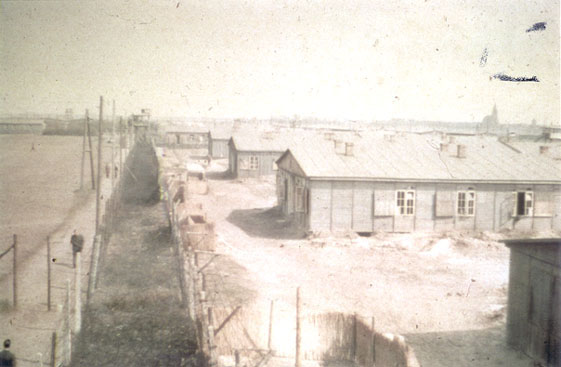Color photo of barracks at Stalag Luft I