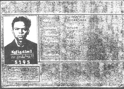 Bruce Bockstanz POW photo ID card - wwII