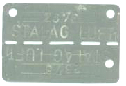 Capt. Carson's German POW dog tags