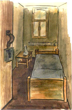 Dulag Luft solitary cell water color  by Paul Canin