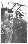 James D. Haffner (left) at Flight School training in Tulare, California
