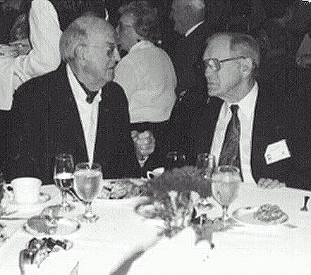 Ulrich Hausmann and W. Lewis Curry at WWII reunion