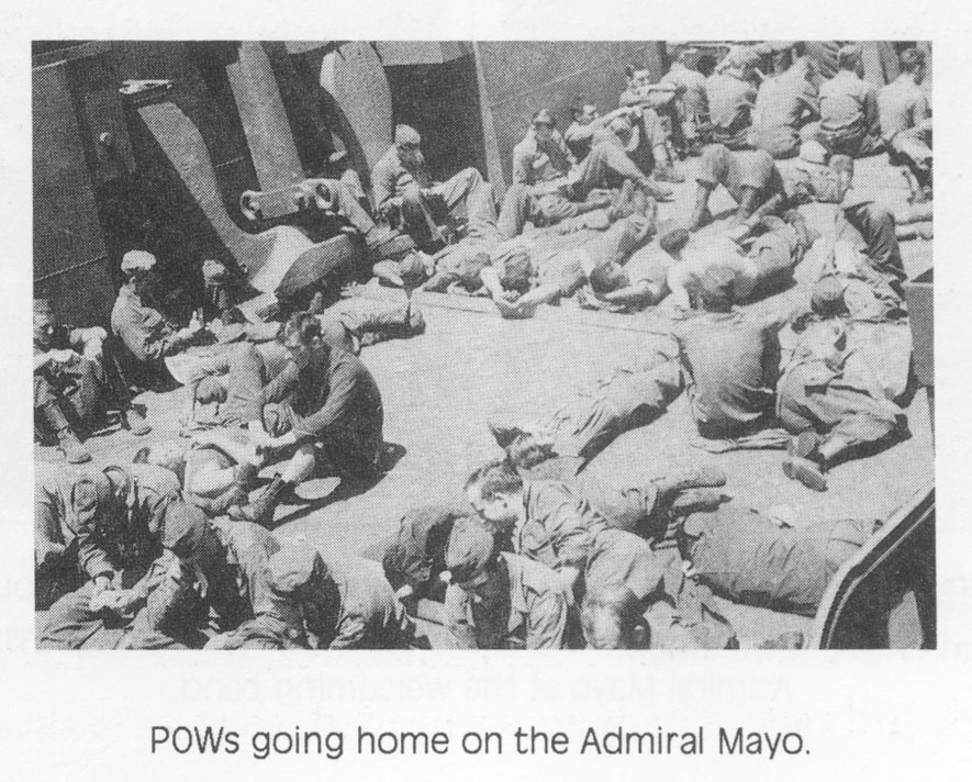 POWs going home on the Admiral Mayo