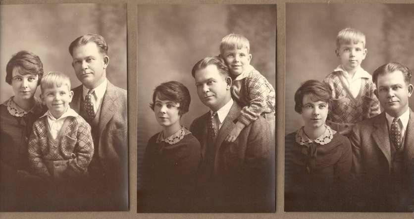 Dad with his parent around 1926 - Mr. and Mrs. James Richard Williams, Sr. of Eufaula, Alabama