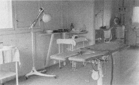 Operating room at Stalag Luft I