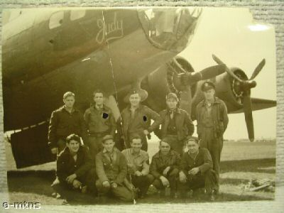 B-17 Judy with crew 1943