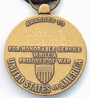 Prisoner of War Medal - reverse