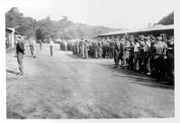 Roll Call at Stalag Luft I - German POW Camp in world war II