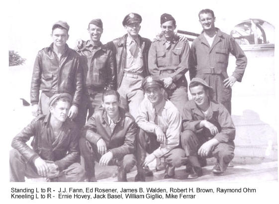 Robert H. Brown B-17 crew of World War II